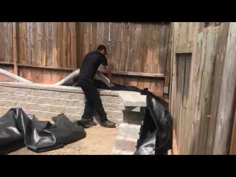 How To Install Drainage Behind Retaining Wall Youtube