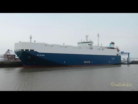 car carrier CITY of OSLO 92GR2 IMO 9407677 Emden RoRo cargo ship Autotransporter