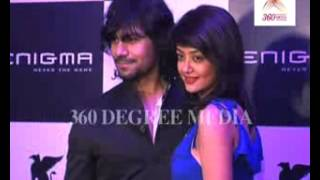Hot Actor Gaurav Chopra poses with TC Actress Surveen Chawla at the re-launch of 'Enigma'