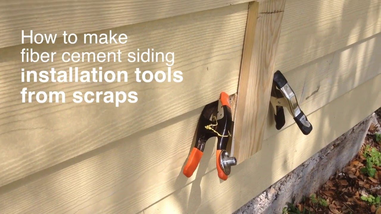 How to make fiber cement siding installation tools from scraps youtube