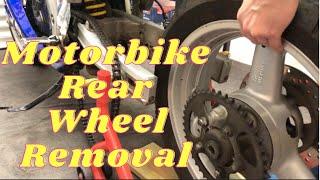 Motorbike Rear Wheel Removal SV650
