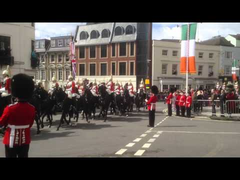 State Visit of the President of Ireland Michael D Higgins to see the Queen at Windsor Castle