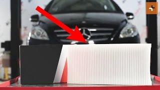 Remove Cabin filter MERCEDES-BENZ - video tutorial