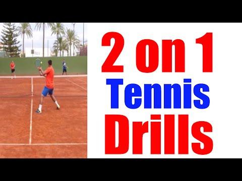 2 on 1 Singles Tennis Drills   Top Tennis Training