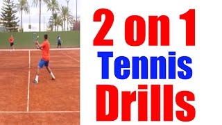 Video 2 on 1 Singles Tennis Drills | Top Tennis Training download MP3, 3GP, MP4, WEBM, AVI, FLV Juni 2018