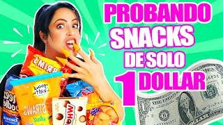 PROBANDO MERIENDAS DE 1 DOLAR! Snacks de la Tienda del Dollar en Estados Unidos - SandraCiresArt