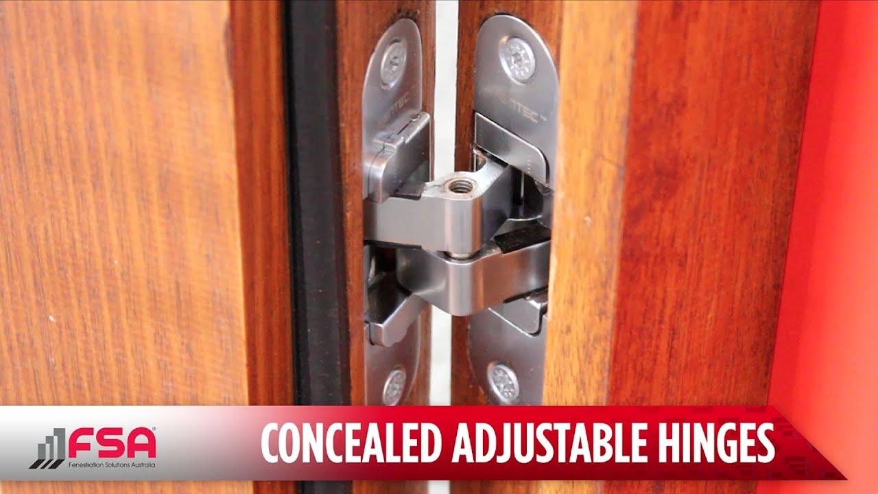 Concealed Adjustable Hinges Fsa Youtube