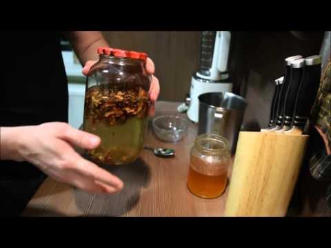 Настойка на перепонках грецкого ореха с мёдом