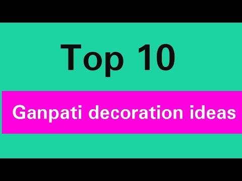 10 Best Ganpati Decoration ideas for home Ganpati Makhar decoration idea Ganesh chaturthi 2019