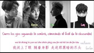EXO - Hurt (傷害) Chinese Version [ Sub Español /PinYin/Chinese] (Color Coded)