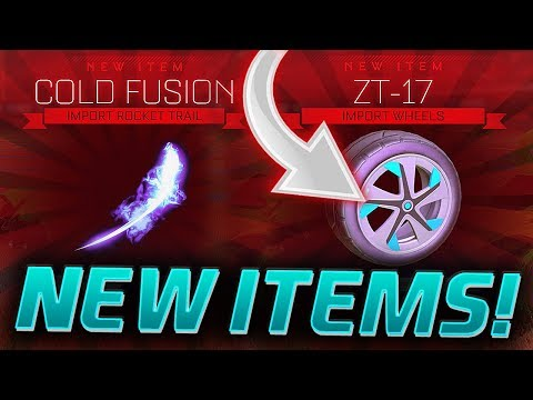 *NEW* RARE ITEMS! ZT-17 Wheels & COLD FUSION Boost! (Rocket League Trading & Showcase)