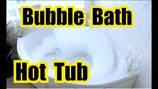 ✬ RELAXING BUBBLE BATH SOUNDS in a SPA TUB for SLEEPING