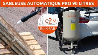 Ro-K90 PRO Sableuse-Aérogommeuse Automatisée Fabrication Française par c2m Ro-K-SAB