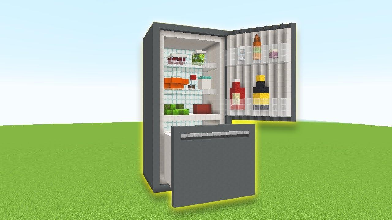 【マイクラ】リアルな冷蔵庫の作り方【建築バトル】【Minecraft】