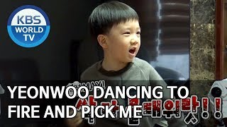 Yeonwoo dancing to FIRE and PICK ME [The Return of Superman/2019.12.29]
