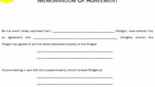 Memorandum of Agreement, Explained (Real Estate Investing)