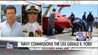 'Made in America' week ends with Navy ship commissioning