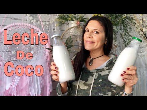 Como Hacer Leche De Coco - 100%- Natural/Leches Vegetales