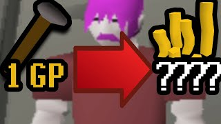 1 Hour of Turning just 1GP into BANK? (ONLY SHOPS) OSRS Challenge