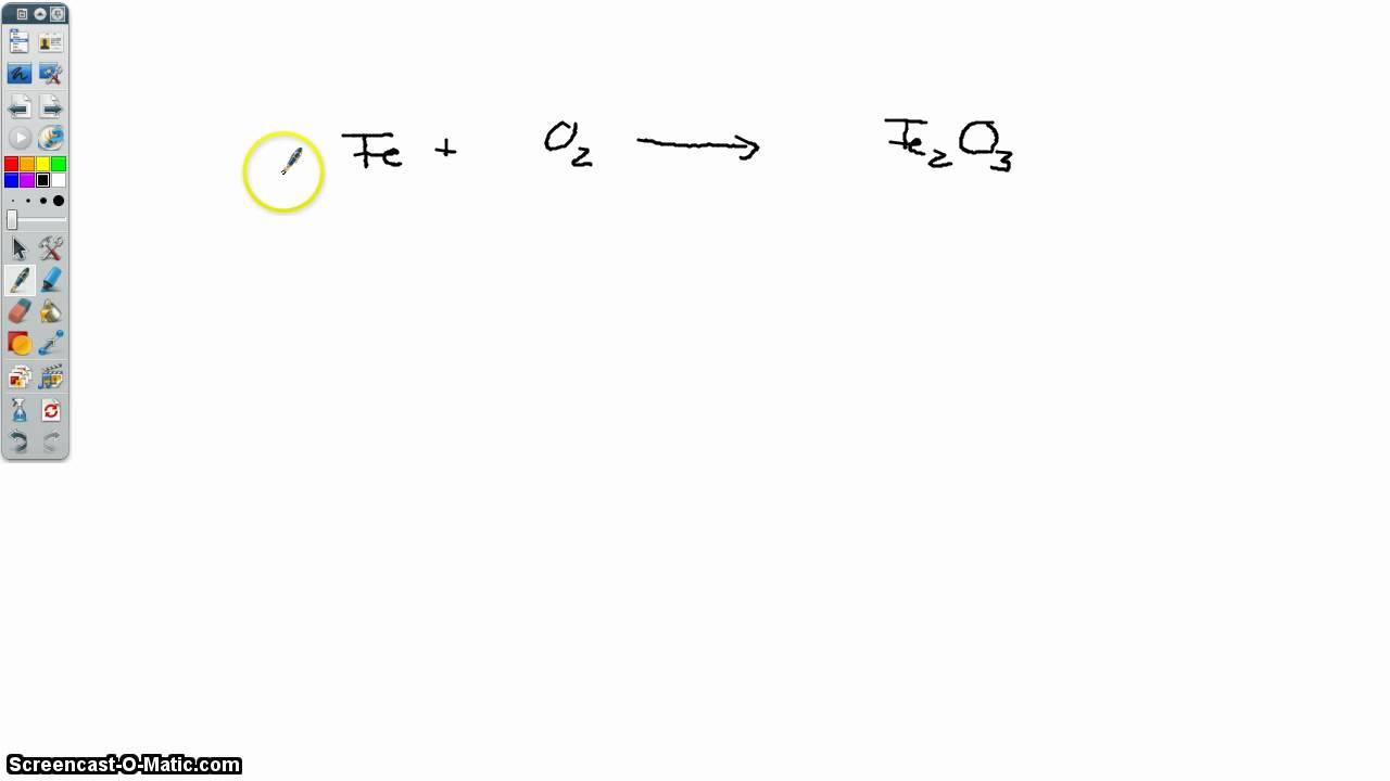 Einfache Reaktionsgleichungen ausgleichen - YouTube