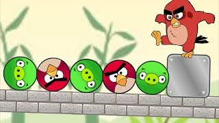 Angry Birds Piggies Out - CUT WOOD AND ROPE TO SAVE ANGRY BIRDS KICK OUT PIGS