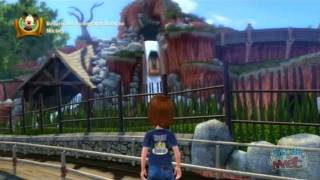Critter Country in Kinect Disneyland Adventures - Virtual tour gameplay on Xbox 360