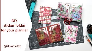 Make a sticker folder for your planner   DIY using a Planners Anonymous kit
