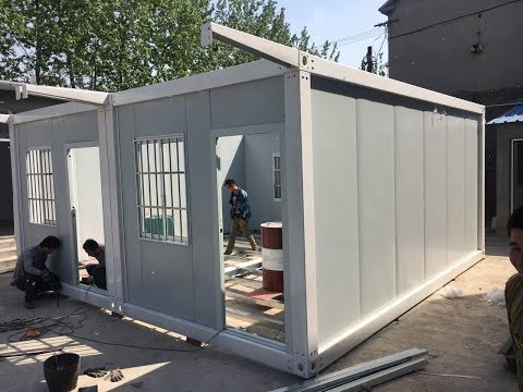3m*5 mobile portable cabin homes affordable housing prefab container house installation video