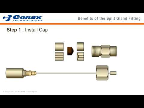 Split Seal Fitting Animation - Conax Technologies