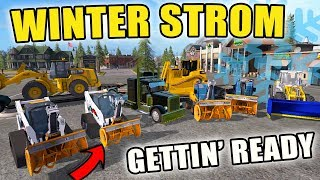 WINTER STORM WARNING | EQUIPMENT PREP | SNOW REMOVAL | FARMING SIMULATOR 2017
