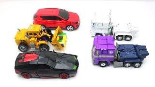 Transformers Optimus Prime - Tobot Robot Taekwon, Carbot & Police Car Toys Lego Prison Break Robbery