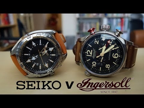FACE-OFF! $400 GMT Duel: Seiko Prospex SUN055 vs. Ingersoll Lawrence IN3218BK - Perth WAtch #44