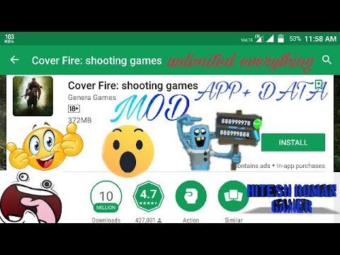 COVER FIRE MOD APK ANDROID DOWNLOAD VIP 1 7 15 Unlimited Money/VIP / non  Root/free/Hindi/real