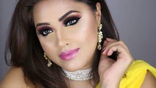 Diwali Makeup and Hair   🌅 Sunset eyeshadow   MakeupbyAzmeree