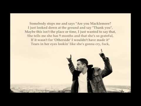 Macklemore x Ryan Lewis ft. Ben Birdwell - Starting Over (lyrics)