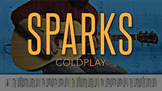 sparks - coldplay | 4k guitar tutorial with tabs