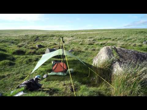 Grace, the Solo Tarp on Dartmoor, June 2017