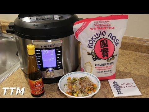 Rice and Mixed Vegetables in the Instant Pot Ultra 60 Pressure Cooker~Vegan Recipe