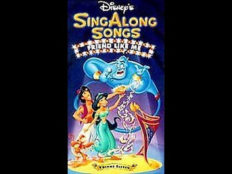 Opening To Disney's Sing-Along Songs:Friend Like Me 1993 VHS