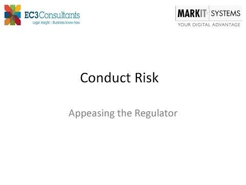 Solving Conduct Risk Management - Appeasing the Regulator