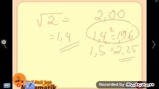 Cara Cepat Menghitung Akar Pangkat 2 - irasional 8