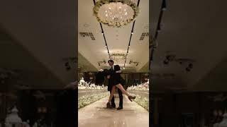 텅 빈 웨딩홀에서 #신혼부부#결혼식