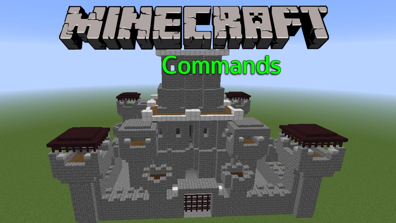Burg Erschaffen Mit Command Minecraft Commands - Minecraft haus bauen mit command block