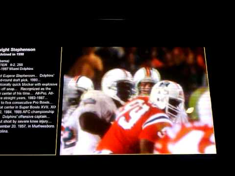Dwight Stephenson video from hall of fame