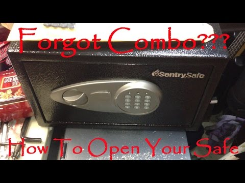 How To: Open A Locked Sentry Safe If You Forgot Combination Code Or Lossed Key Model Is X055