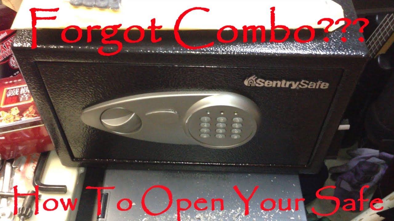 how to open a locked sentry safe if you forgot combination code or lossed key model is x055 youtube - Sentry Safe Models