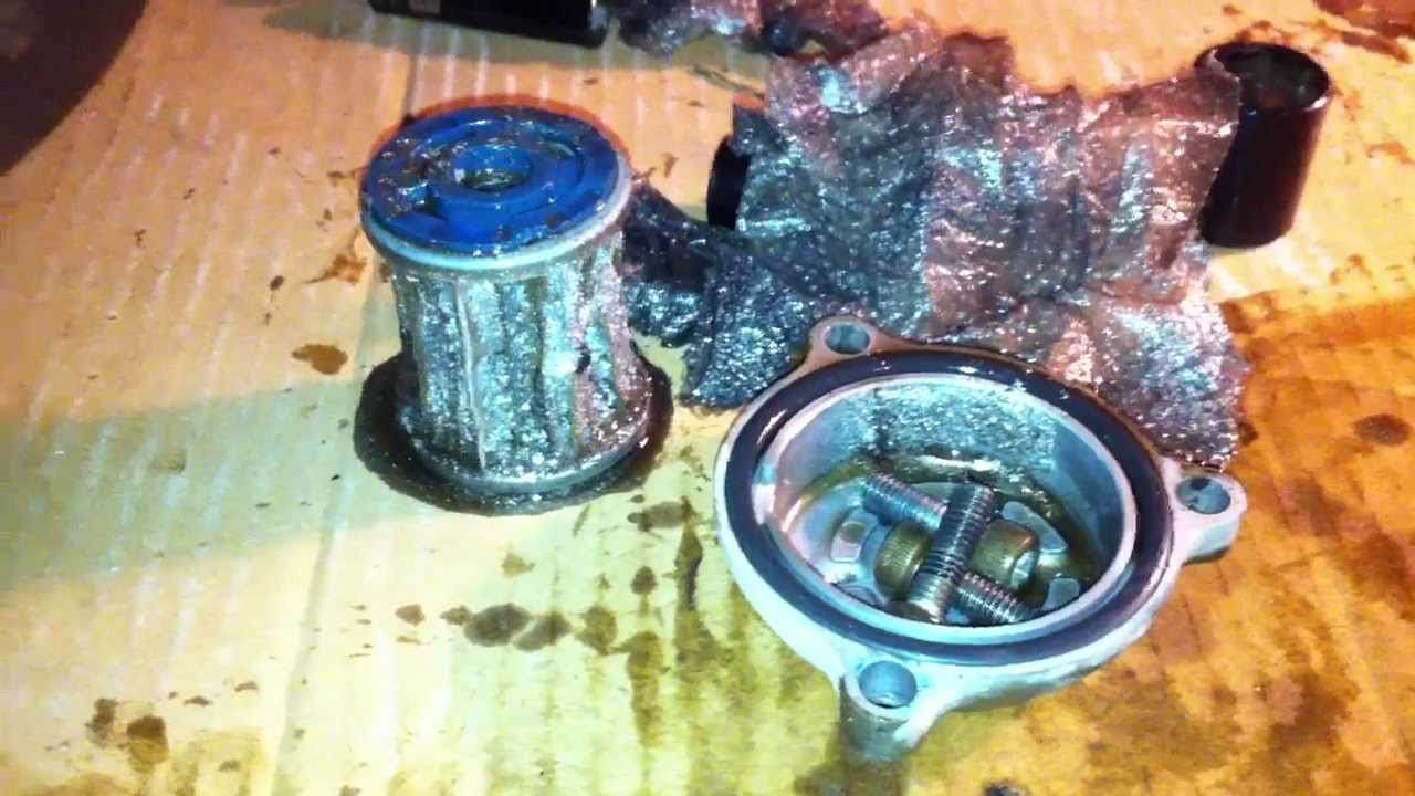 Yamaha Warrior 350 Oil Filter Plugged Solid With Metal Dust 5 Youtube