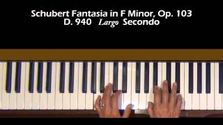 Schubert Fantasia in F Minor Op.103, D. 940 Secondo Tutorial II