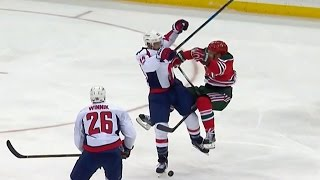 Gotta See It: Orpik breaks Hall's stick with explosive body check