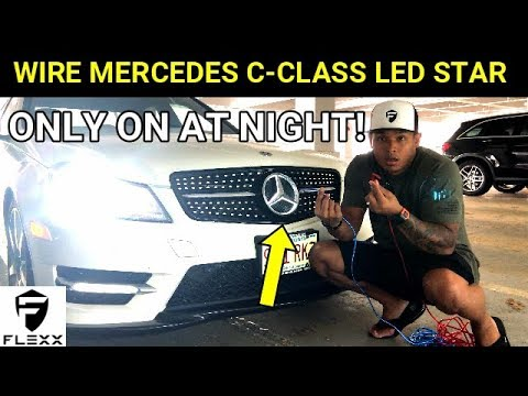2 EASY WAYS TO WIRE A MERCEDES LIGHTED LED STAR EMBLEM - YouTube